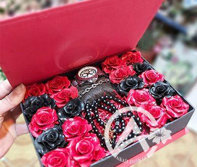 باکس گل رز مصنوعی