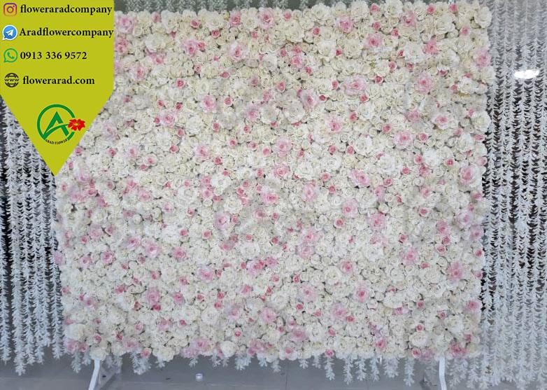 تزیین دیوار با گل مصنوعی